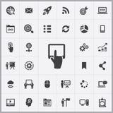 Grupo universal dos ícones do mercado de Digitas ilustração stock