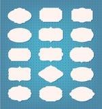 Grupo vazio do quadro e de etiqueta Foto de Stock