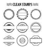 Grupo vazio do selo, efeito de borracha da textura do selo da tinta Fotografia de Stock Royalty Free
