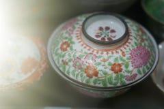 Grupo velho da porcelana fotos de stock royalty free