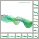 Grupo verde do molde do folheto da onda do negócio Ilustração do Vetor