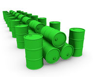 Grupo verde dos tambores Fotografia de Stock