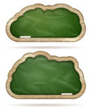 Grupo verde vazio da nuvem do quadro-negro Eps 10 Imagens de Stock Royalty Free