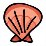 Grupo vermelho bonito do motivo da ilustração do vetor dos desenhos animados do escudo dos moluscos Elementos isolados tirados m? ilustração stock