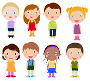 Grupo vertical de crianças Foto de Stock Royalty Free