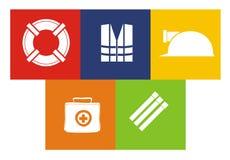 Grupo vivo do ícone da poupança Imagem de Stock
