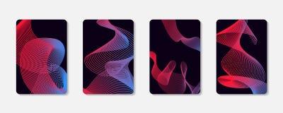 Grupos coloridos das tampas do fundo moderno abstrato de néon Linhas do vetor do projeto moderno Imagem de Stock
