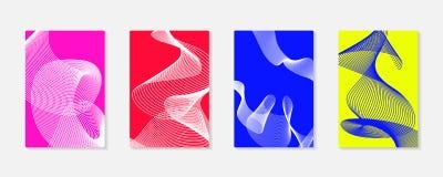 Grupos coloridos das tampas do fundo moderno abstrato Linhas do vetor do projeto moderno Imagens de Stock Royalty Free
