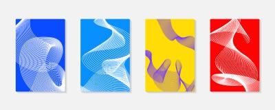 Grupos coloridos das tampas do fundo moderno abstrato Linhas do vetor do projeto moderno Fotografia de Stock Royalty Free