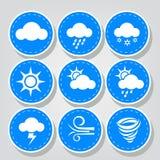 Grupos costurados ícones do tempo Ilustração Stock