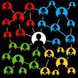 Grupos da rede Fotografia de Stock
