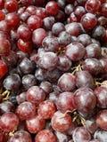 Grupos da uva vermelha fresca foto de stock