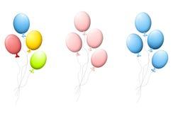 Grupos de balões do hélio ilustração do vetor