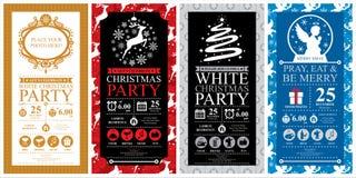 Grupos de cartão do convite do Natal ilustração stock