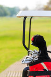 Grupos de clubes de golfe Fotografia de Stock Royalty Free