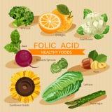 Grupos de fruto, de vegetais, de carne, de peixes e de produtos láteos saudáveis Imagem de Stock Royalty Free