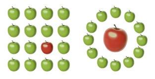 Metafor da diferença Fotografia de Stock Royalty Free