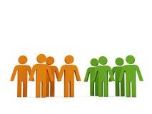 Grupos de personas. libre illustration