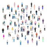 Grupos de pessoas diferentes, ilustração do vetor Fotos de Stock