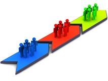 Grupos de trabalho chain do processo ilustração do vetor