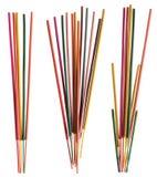Grupos de varas coloridas do incenso Foto de Stock Royalty Free