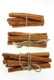 Grupos de varas de canela Fotografia de Stock Royalty Free