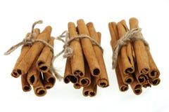 Grupos de varas de canela Imagens de Stock Royalty Free