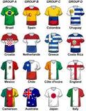 Grupos 2014 del Brasil del mundial del Fifa Fotografía de archivo
