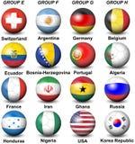 Grupos 2014 del Brasil del mundial del Fifa stock de ilustración