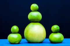 Grupos diferentes das formas dos citrinos verdes Cais, pomelo, toranjas Fotos de Stock