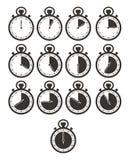 Grupos do ícone do temporizador - cronômetro Foto de Stock