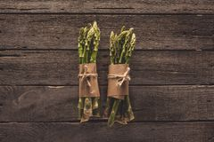 Grupos do aspargo verde fotos de stock