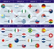 Grupos do copo de mundo 2010 Imagem de Stock