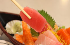 Grupos do Sashimi Fotografia de Stock