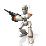 Grupos do soldado do robô - acima de um rifle Imagem de Stock Royalty Free