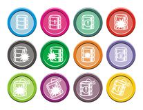 Grupos redondos do ícone do base de dados Fotografia de Stock Royalty Free