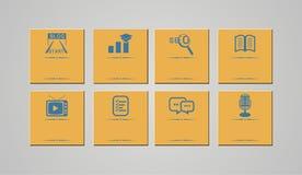 Grupos retros do ícone - ícones do blogue Imagem de Stock