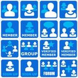 Grupos sociales Foto de archivo