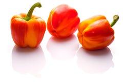 Grupowa czerwona pomarańcze płonący pieprzowy warzywo obrazy stock