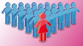 grupowa lidera mężczyzna kobieta Obraz Royalty Free