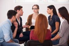 Grupowa terapia. Zdjęcia Royalty Free
