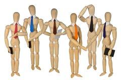 Grupowe atrapy - kilka mężczyzna Obraz Royalty Free