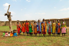 grupowe kenijskie kobiety Fotografia Stock