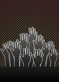 grupowe ręki Obrazy Stock