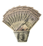 grupowego pieniądze odgórny widok zdjęcie royalty free
