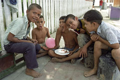 Grupowego portreta Nikaraguańscy młodzi czyścibuty obraz royalty free