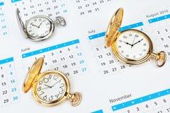 Grupowego rocznika machinalny kieszeniowy zegarek. Zdjęcie Stock