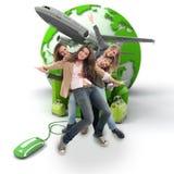 Grupowej podróży online rezerwacja Zdjęcia Royalty Free