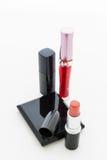 Grupowi dekoracyjni kosmetyki dla makeup. Wciąż życie Fotografia Royalty Free