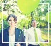 Grupowi ludzie biznesu Trzyma balonu pojęcie zdjęcie royalty free